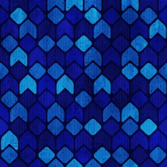 Blue funky retro seamless pattern vector