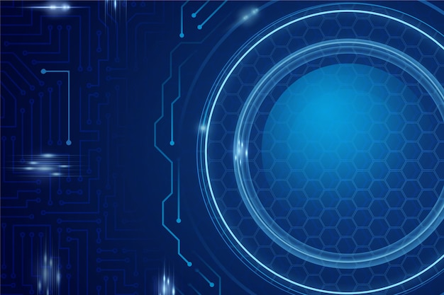 Синий футуристический фон технологии