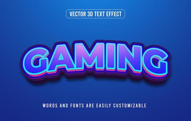 Синий игровой киберспорт стиль редактируемого текста 3d