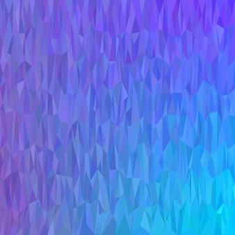 青い幾何学的な抽象的なカオス三角形のパターンの背景 - モザイクのベクトル設計