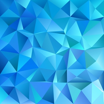 Blue geometric abstract chaotic triangle pattern background - mosaic vector graphic design