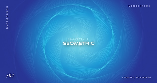 Blue geometric abstract hexagonal background