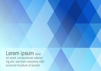 Blue geometric abstract vector background