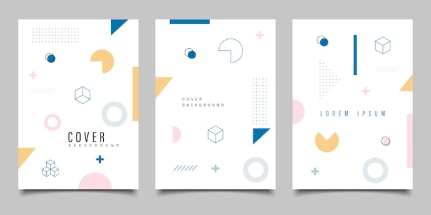 Blue geometric background flyer  template