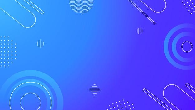 Blue geometric background. graphic geometric elegant blue background with circle dot line vibrant gradient.