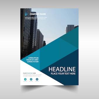 Blue geometric creative business brochure design