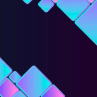 青い幾何学的なフレームの図