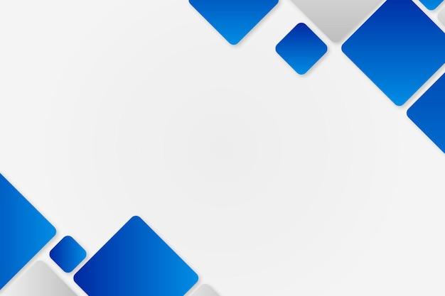 Blue geometric frame vector