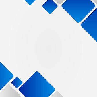 Cornice geometrica blu