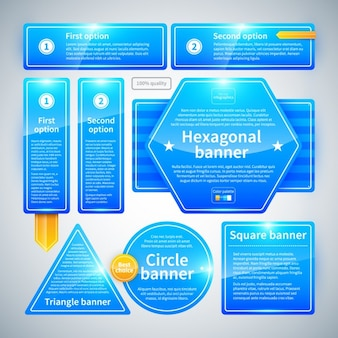 Blue and geometric infographic with glossy texture