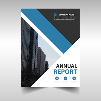 Blue geometric professional annual report template