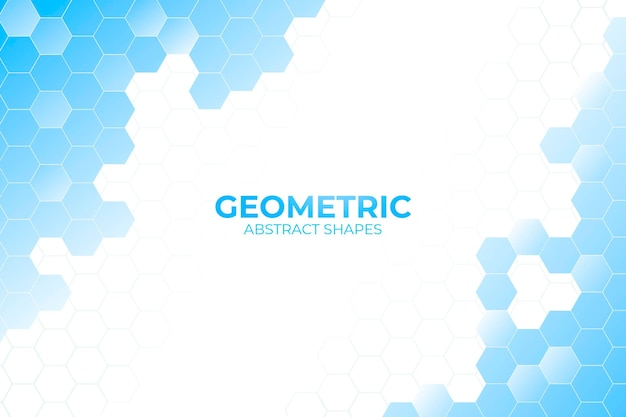 Blue geometric shapes background