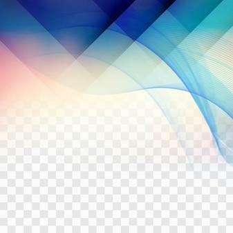 Blue geometric shapes on transparent background