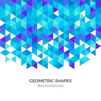 Blue geometric shapes triangular background