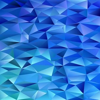 青い幾何学的な三角形の背景 - 色付きの三角形からの多角形のベクトル図
