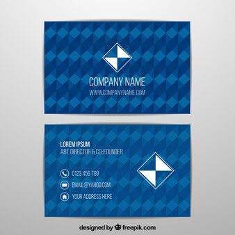 Голубая геометрическая визитная карточка