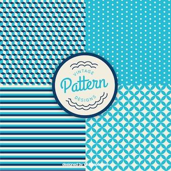Blue geometrical patterns
