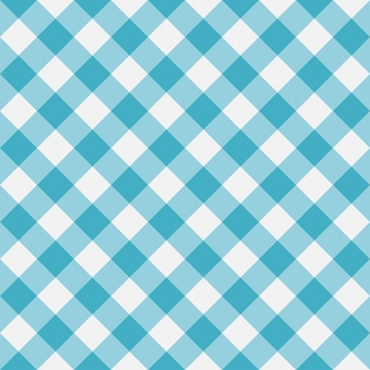 Blue gingham seamless pattern diagonal stripes texture from rhombus for plaid tablecloths