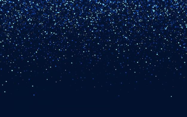 Blue glamour graphic sparkle border. silver