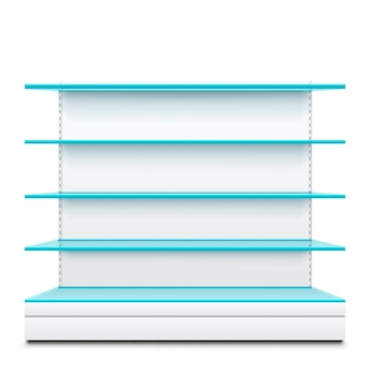 Blue glass shelves