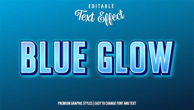 Blue glow neon style редактируемый текстовый эффект