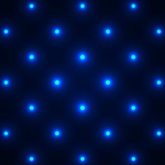 青い光る点線の背景。図。