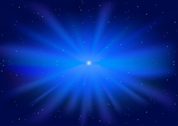 青い光る星