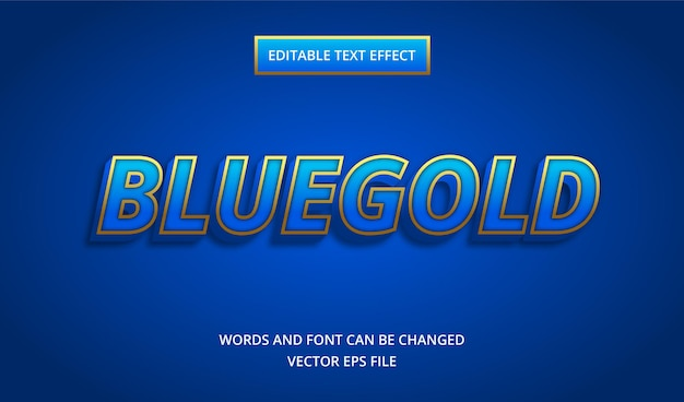 Blue gold text effect