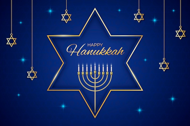 Hanukkah blu e dorato