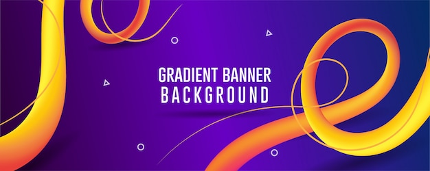 Blue gradient abstract  background banner, fluid abstract backgrouds