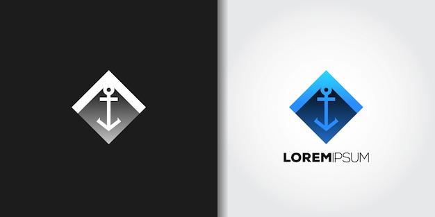 Blue gradient anchor logo