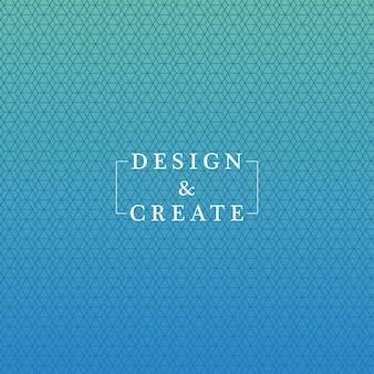 青のグラデーションとパターンの背景、カバーデザイン。
