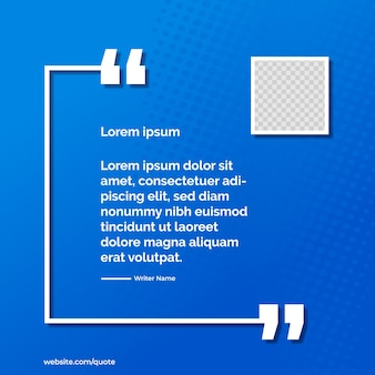 Blue gradient banner for quote