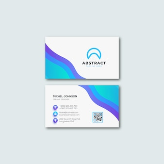 Blue gradient business card template