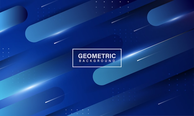 Blue gradient geometric shape background
