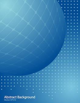 Blue gradient sphere background