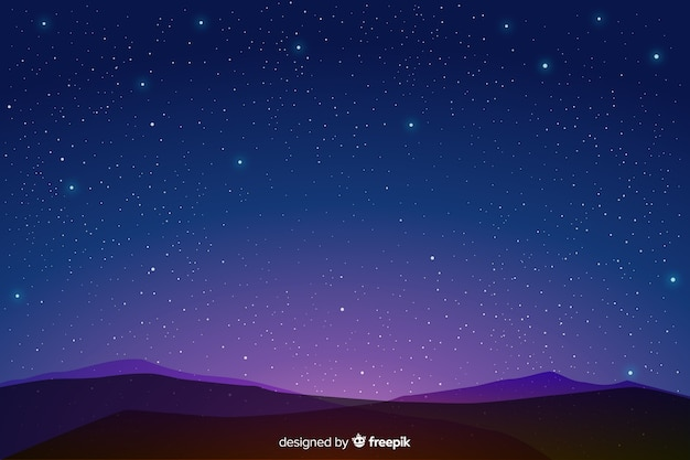 Blue gradient starry night background