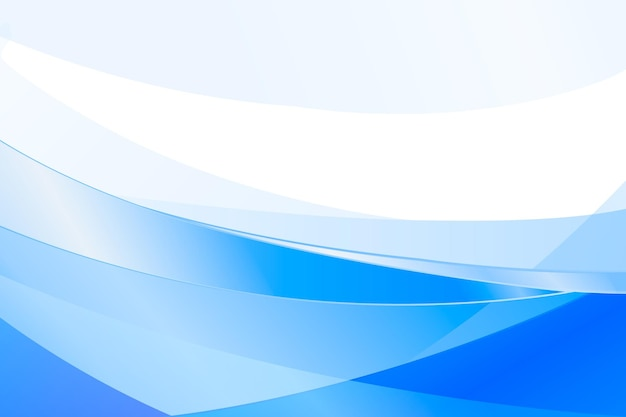 Blue gradient waves background