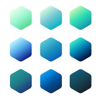 Синий градиент Premium векторы