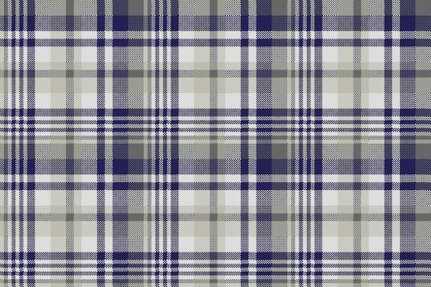 블루 그레이 체크 섬유 원활한 패턴