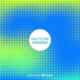 Blue and green abstract halftone background