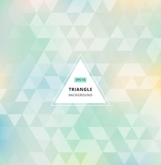 Blue green abstract triangle pattern background seamless