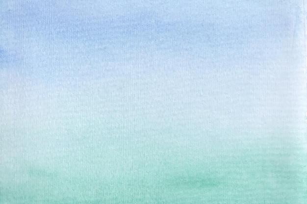 Синий зеленый абстрактный акварельный фон