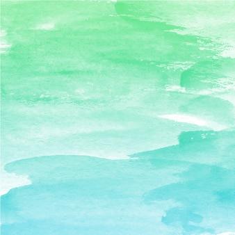 Синяя зеленая смесь акварельная текстура