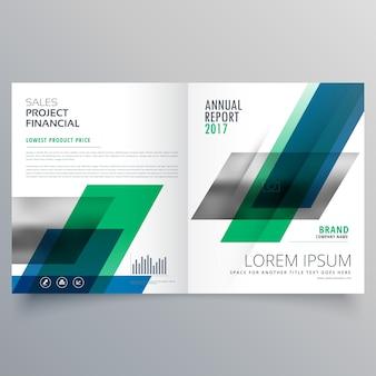 Modello di creatività professionale design brochure aziendale bifold con forme geometriche