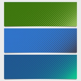 Blue and green half toned dots background