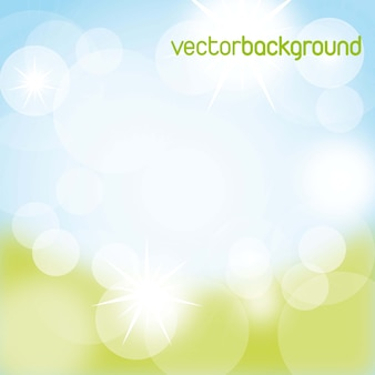 Blue and green nature background vector illustration