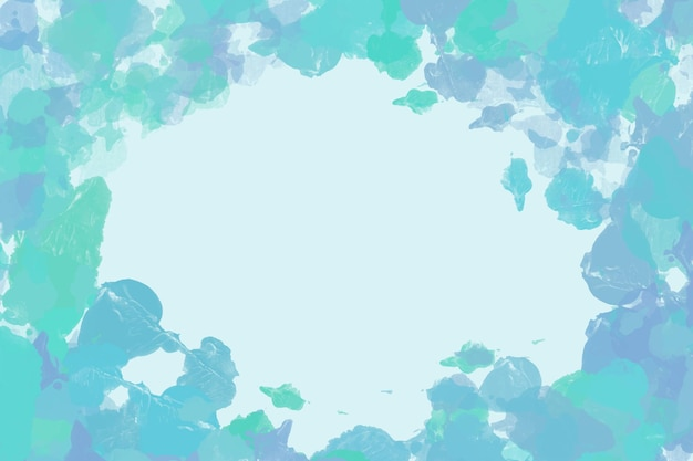 Blue and green painted background