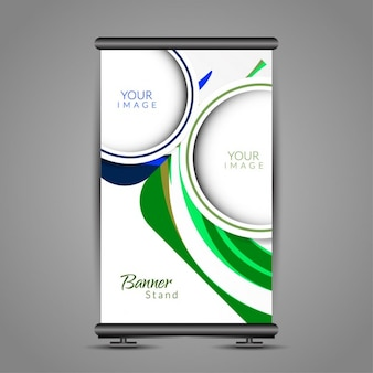 Blue and green roll up template