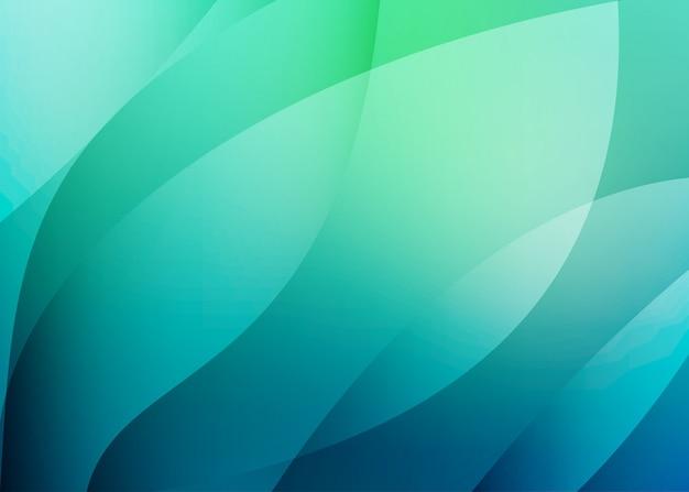 クールな色のブルーグリーンのベクトルの背景